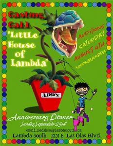 Lambda South Anniversary Audtions
